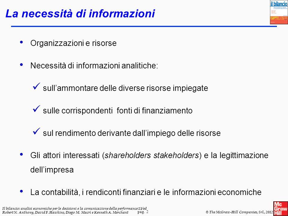 pag. 2 Il bilancio: analisi economiche per le decisioni e la comunicazione della performance 13/ed Robert N. Anthony, David F. Hawkins, Diego M. Macrì