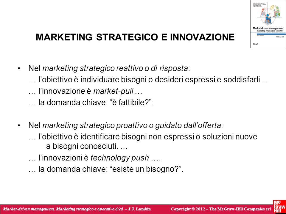 Market-driven management. Marketing strategico e operativo 6/ed – J.J. LambinCopyright © 2012 – The McGraw-Hill Companies srl MARKETING STRATEGICO E I