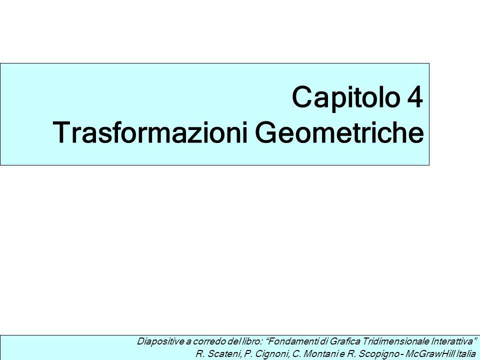 Diapositive a corredo del libro: Fondamenti di Grafica Tridimensionale Interattiva R. Scateni, P. Cignoni, C. Montani e R. Scopigno – McGrawHill Itali