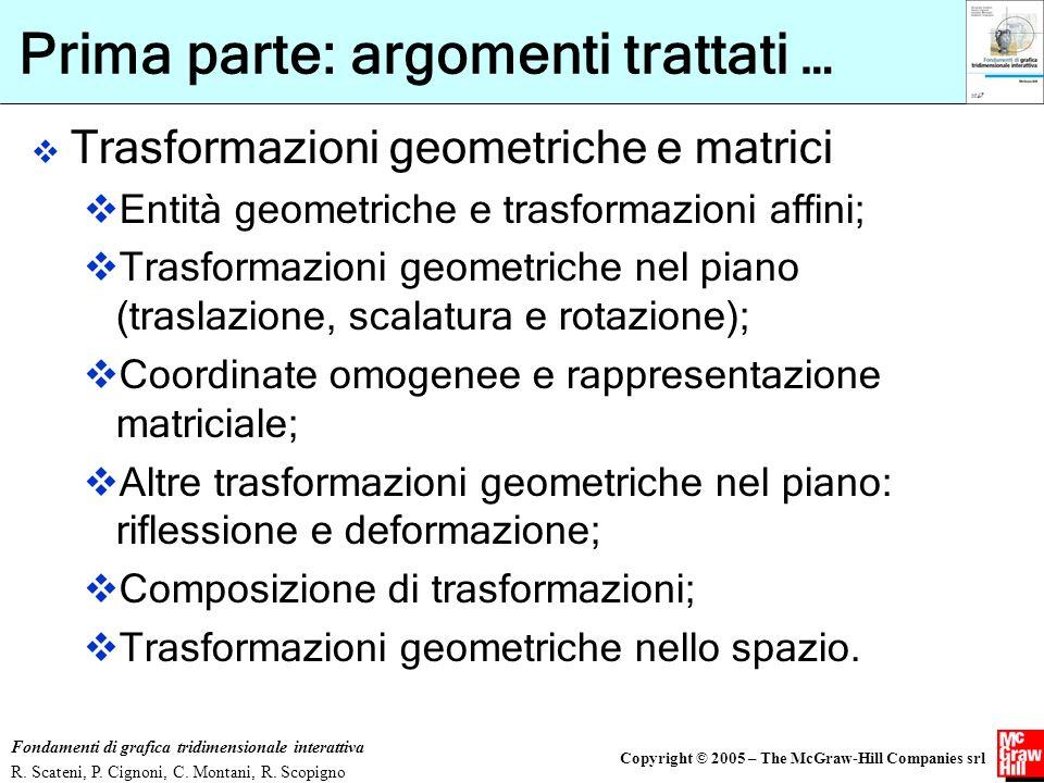Copyright © 2005 – The McGraw-Hill Companies srl Fondamenti di grafica tridimensionale interattiva R. Scateni, P. Cignoni, C. Montani, R. Scopigno Pri
