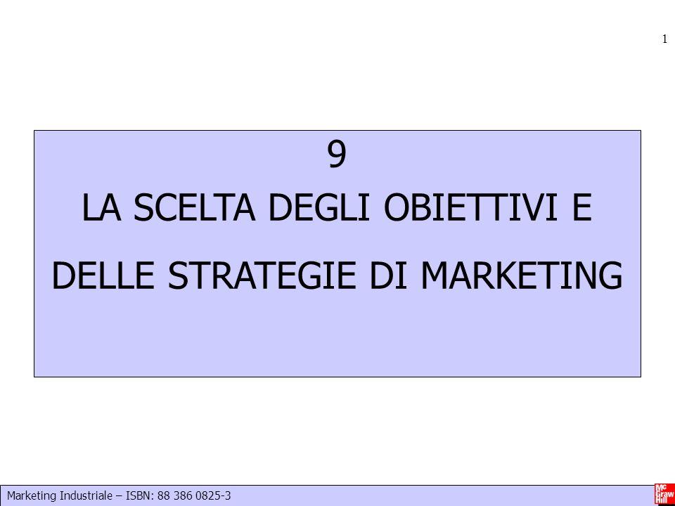 Marketing Industriale – ISBN: 88 386 0825-3 1 9 LA SCELTA DEGLI OBIETTIVI E DELLE STRATEGIE DI MARKETING