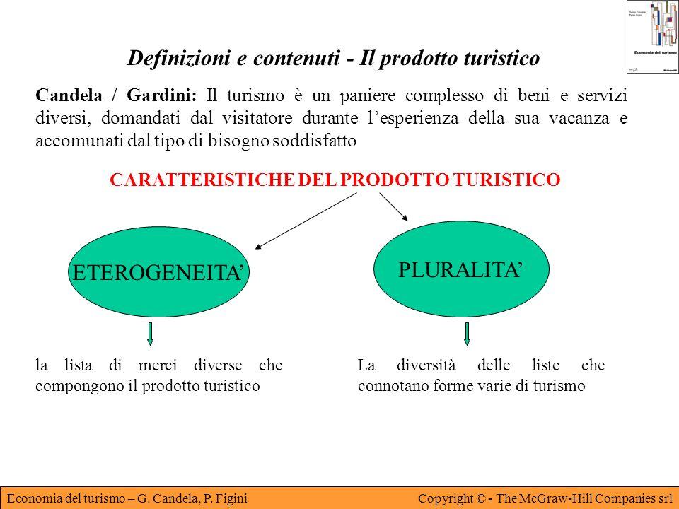 Economia del turismo – G. Candela, P. FiginiCopyright © - The McGraw-Hill Companies srl Definizioni e contenuti - Il prodotto turistico Candela / Gard