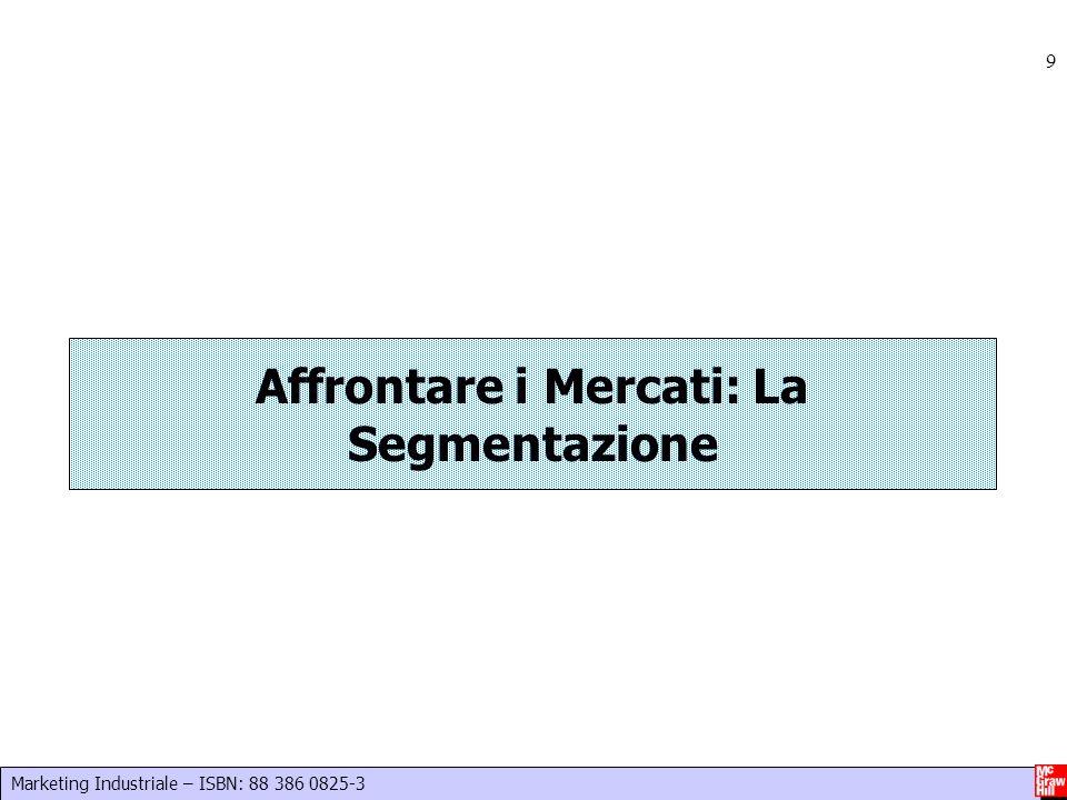 Marketing Industriale – ISBN: 88 386 0825-3 9 Affrontare i Mercati: La Segmentazione