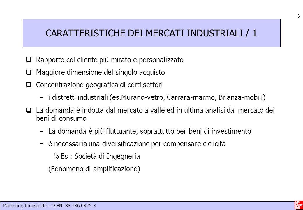 Marketing Industriale – ISBN: 88 386 0825-3 4 CARATTERISTICHE DEI MERCATI INDUSTRIALI / 2 La domanda è relativamente anelastica nel breve termine.