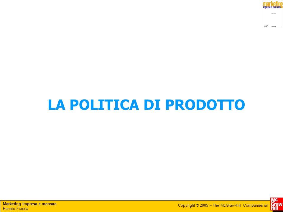 Marketing impresa e mercato Renato Fiocca Copyright © 2005 – The McGraw-Hill Companies srl Assortimento e gestione della gamma dei prodotti Le decisioni riguardanti la numerosità e la composizione dellassortimento sono elemento centrale della politica di prodotto.