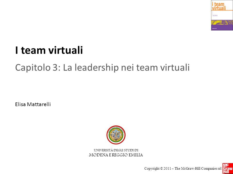 I team virtuali Copyright © 2011 – The McGraw-Hill Companies srl Attenzione ai compiti o alle relazioni sociali.