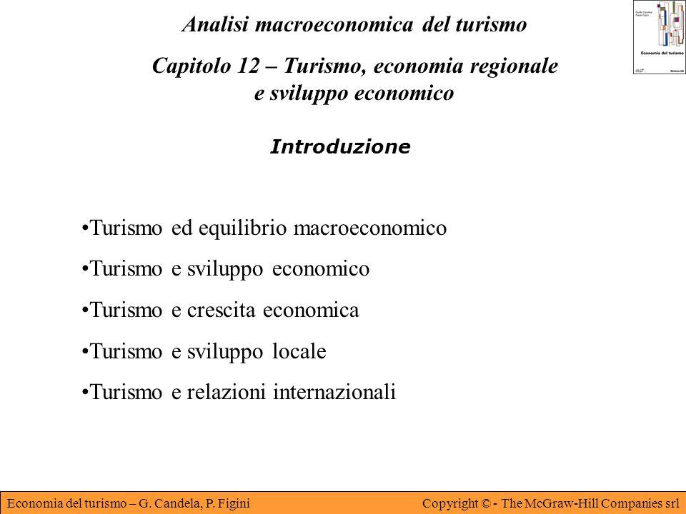 Economia del turismo – G. Candela, P. FiginiCopyright © - The McGraw-Hill Companies srl Analisi macroeconomica del turismo Capitolo 12 – Turismo, econ