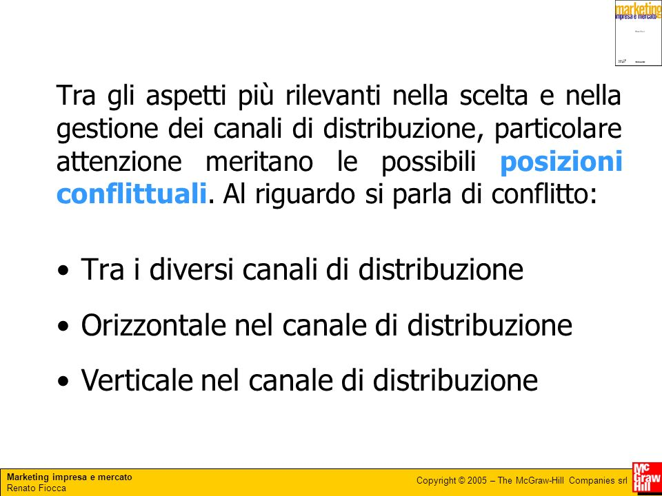 Marketing impresa e mercato Renato Fiocca Copyright © 2005 – The McGraw-Hill Companies srl 3.