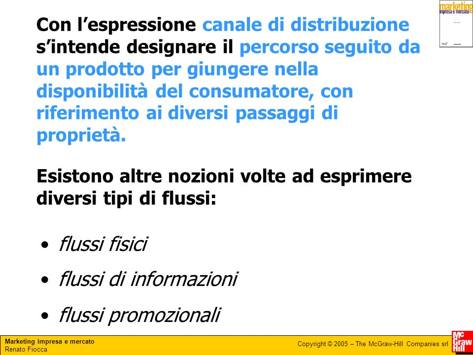 Marketing impresa e mercato Renato Fiocca Copyright © 2005 – The McGraw-Hill Companies srl