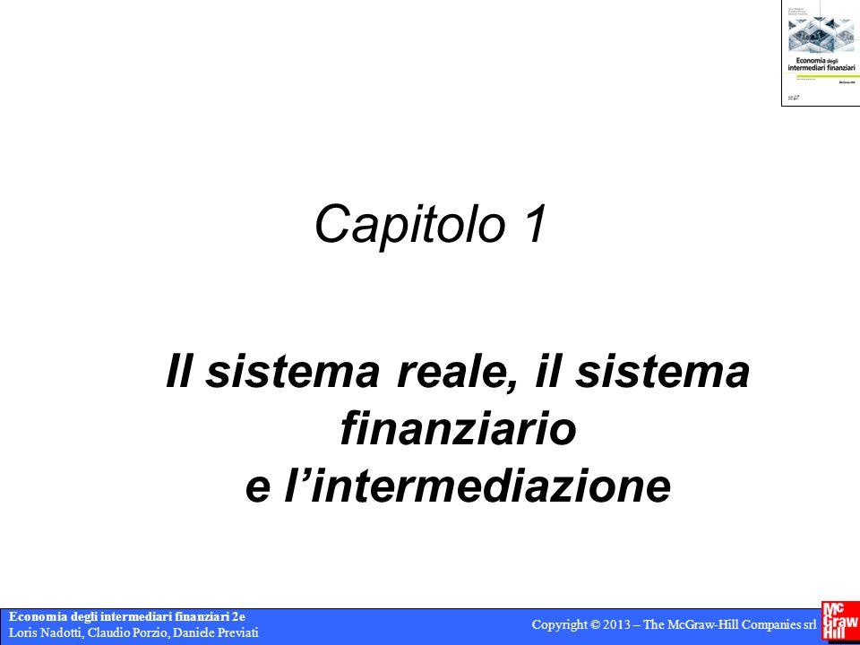 Economia degli intermediari finanziari 2e Loris Nadotti, Claudio Porzio, Daniele Previati Copyright © 2013 – The McGraw-Hill Companies srl Capitolo 1