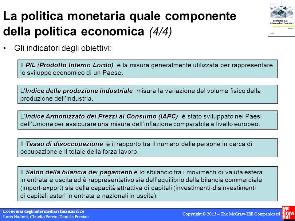 Economia degli intermediari finanziari 2e Loris Nadotti, Claudio Porzio, Daniele Previati Copyright © 2013 – The McGraw-Hill Companies srl La politica