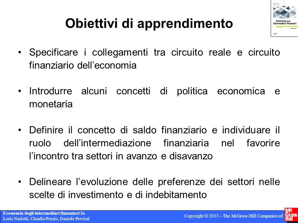 Economia degli intermediari finanziari 2e Loris Nadotti, Claudio Porzio, Daniele Previati Copyright © 2013 – The McGraw-Hill Companies srl Obiettivi d
