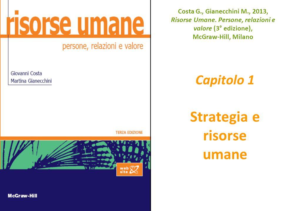 Costa G., Gianecchini M., 2013, Risorse Umane. Persone, relazioni e valore (3° edizione), McGraw-Hill, Milano Capitolo 1 Strategia e risorse umane