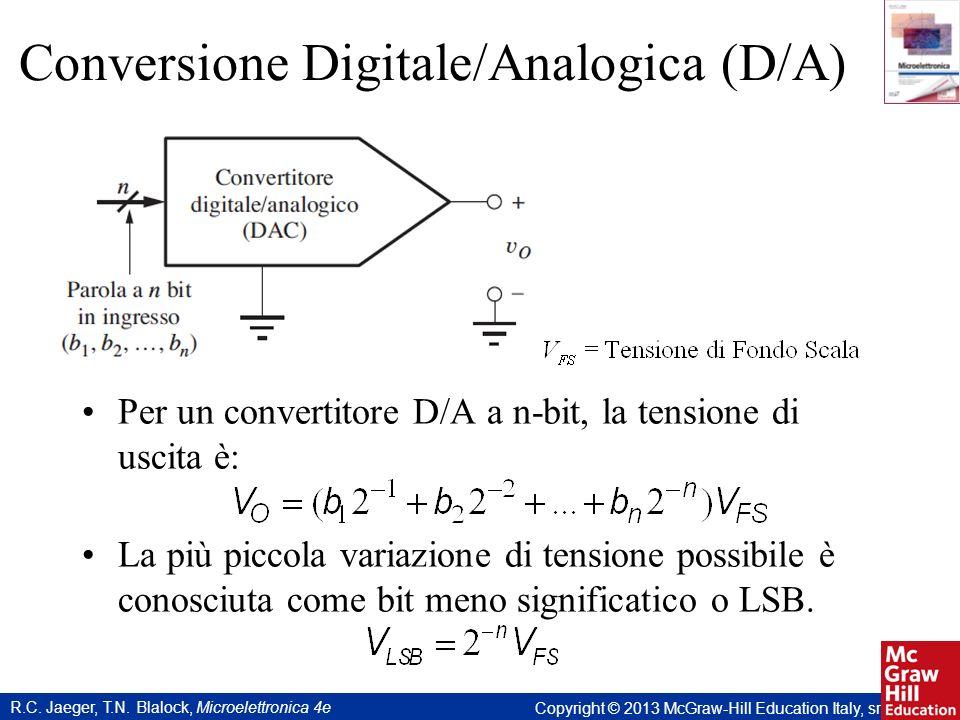 R.C. Jaeger, T.N. Blalock, Microelettronica 4e Copyright © 2013 McGraw-Hill Education Italy, srl Conversione Digitale/Analogica (D/A) Per un convertit