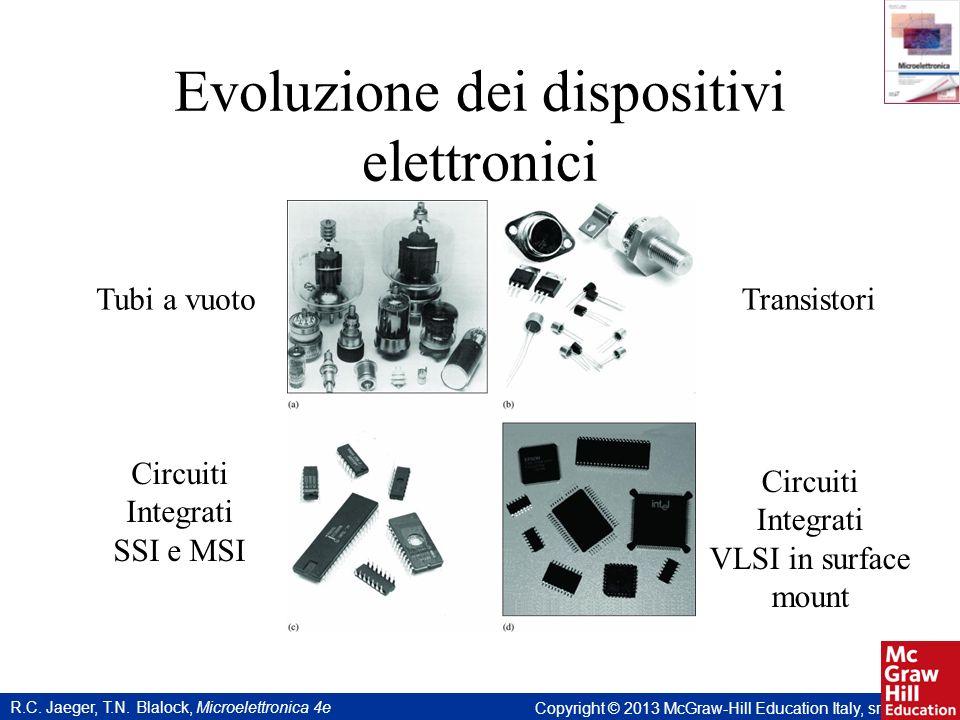 R.C. Jaeger, T.N. Blalock, Microelettronica 4e Copyright © 2013 McGraw-Hill Education Italy, srl Evoluzione dei dispositivi elettronici Tubi a vuotoTr
