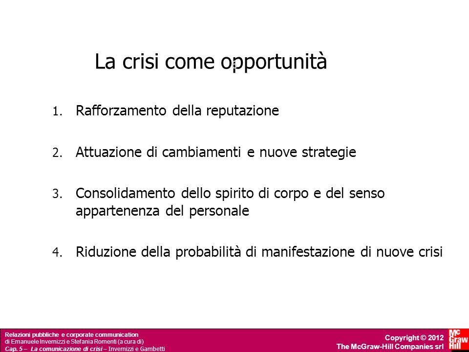 Relazioni pubbliche e corporate communication di Emanuele Invernizzi e Stefania Romenti (a cura di) Cap. 5 – La comunicazione di crisi – Invernizzi e