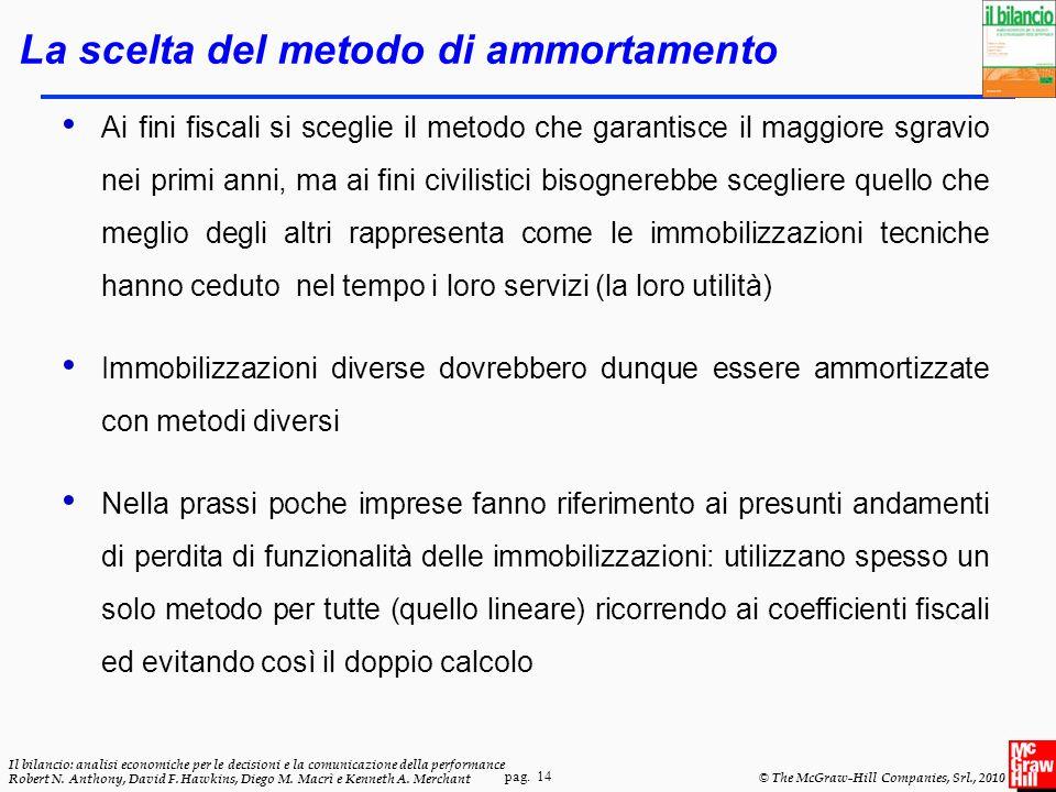 pag. 14 Il bilancio: analisi economiche per le decisioni e la comunicazione della performance Robert N. Anthony, David F. Hawkins, Diego M. Macrì e Ke