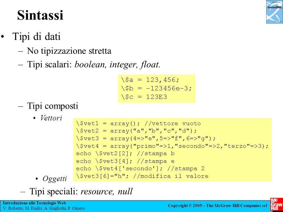 Introduzione alle Tecnologie Web V.Roberto, M. Frailis, A.