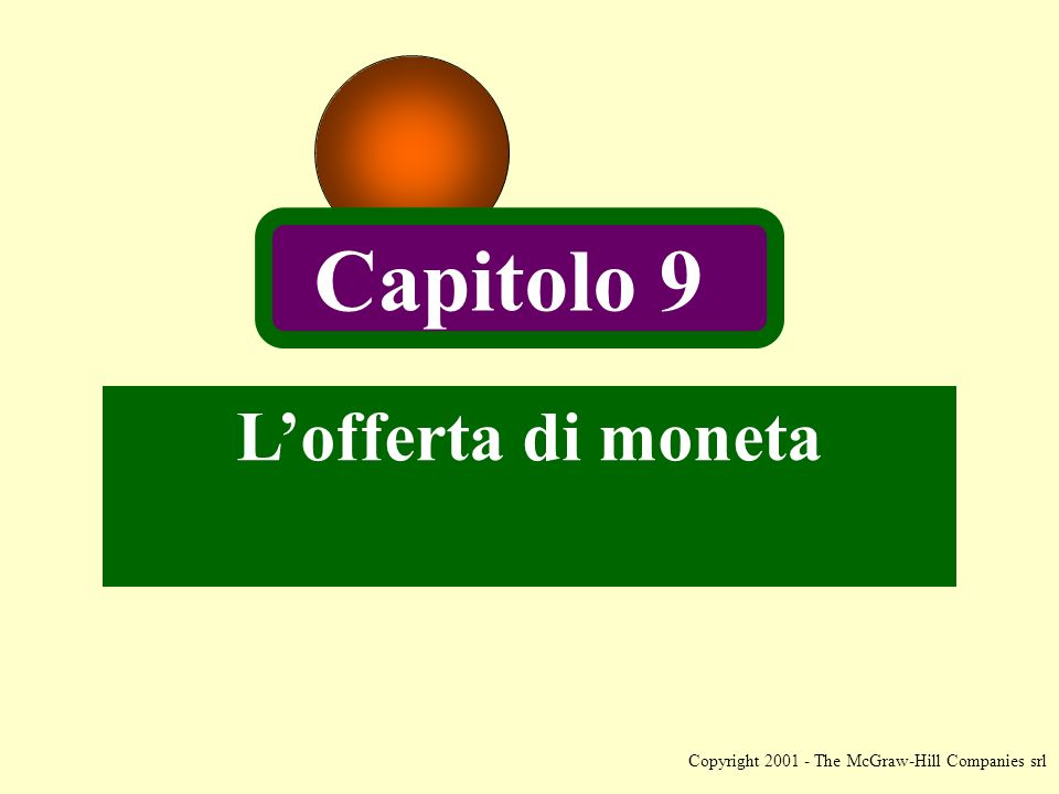 Copyright The McGraw-Hill Companies srl Lofferta di moneta Capitolo 9
