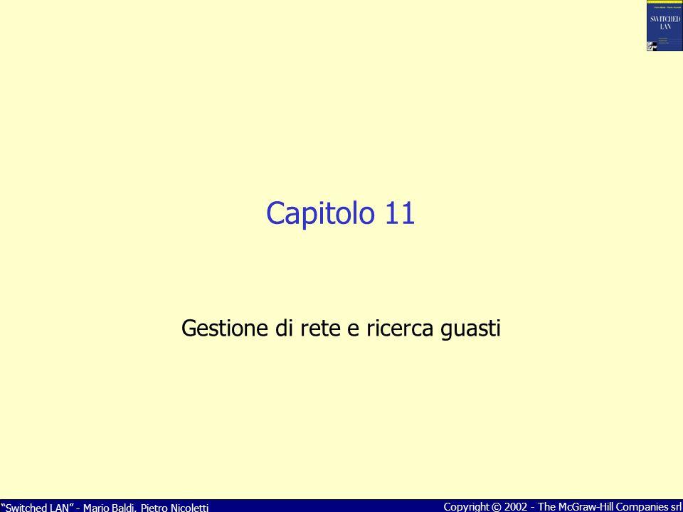 Switched LAN - Mario Baldi, Pietro Nicoletti Copyright © 2002 - The McGraw-Hill Companies srl Capitolo 11 Gestione di rete e ricerca guasti
