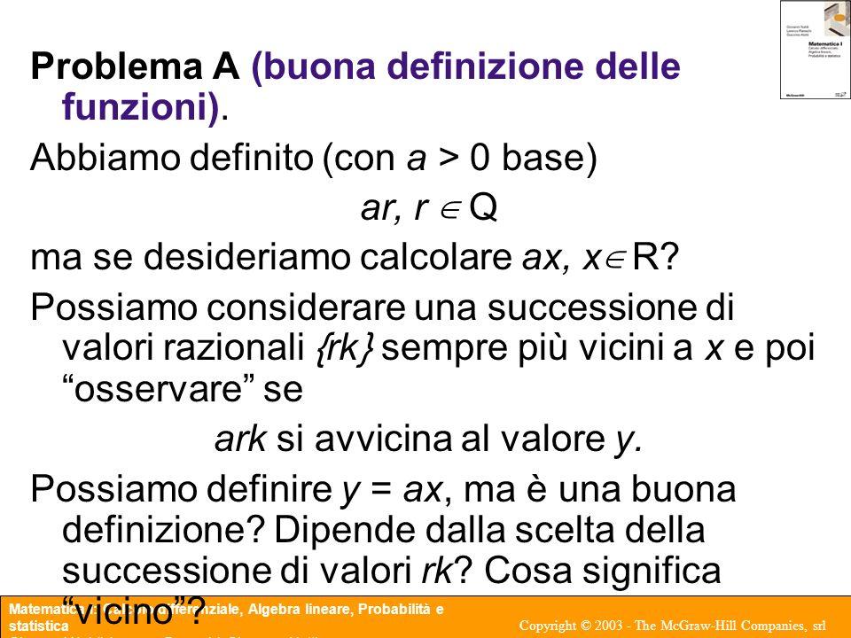 Matematica I: Calcolo differenziale, Algebra lineare, Probabilità e statistica Giovanni Naldi, Lorenzo Pareschi, Giacomo Aletti Copyright © 2003 - The