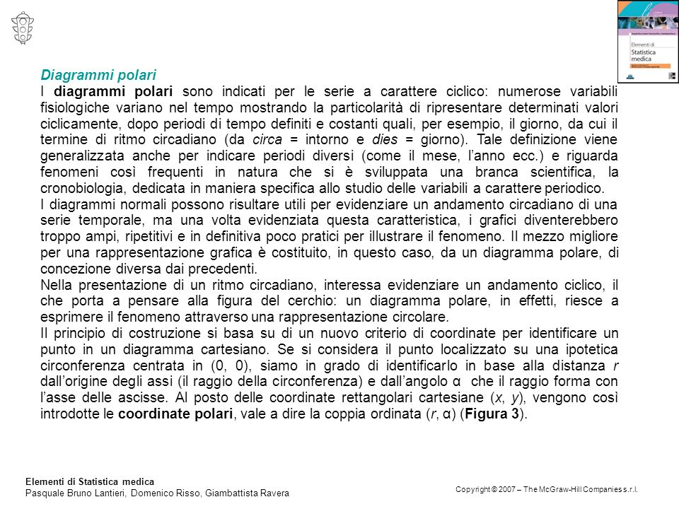 Elementi di Statistica medica Pasquale Bruno Lantieri, Domenico Risso, Giambattista Ravera Copyright © 2007 – The McGraw-Hill Companies s.r.l. Diagram