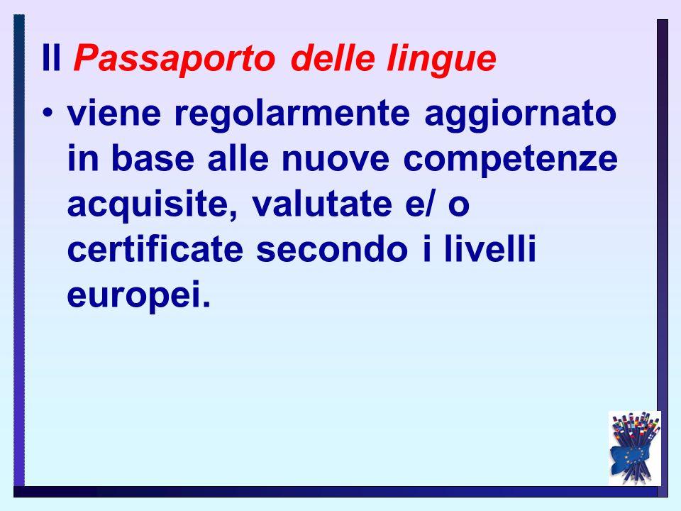 Il PEL è formato da tre diverse sezioni: 1. il Passaporto delle lingue 2. la Biografia linguistica 3. il Dossier. STRUTTURA del PEL