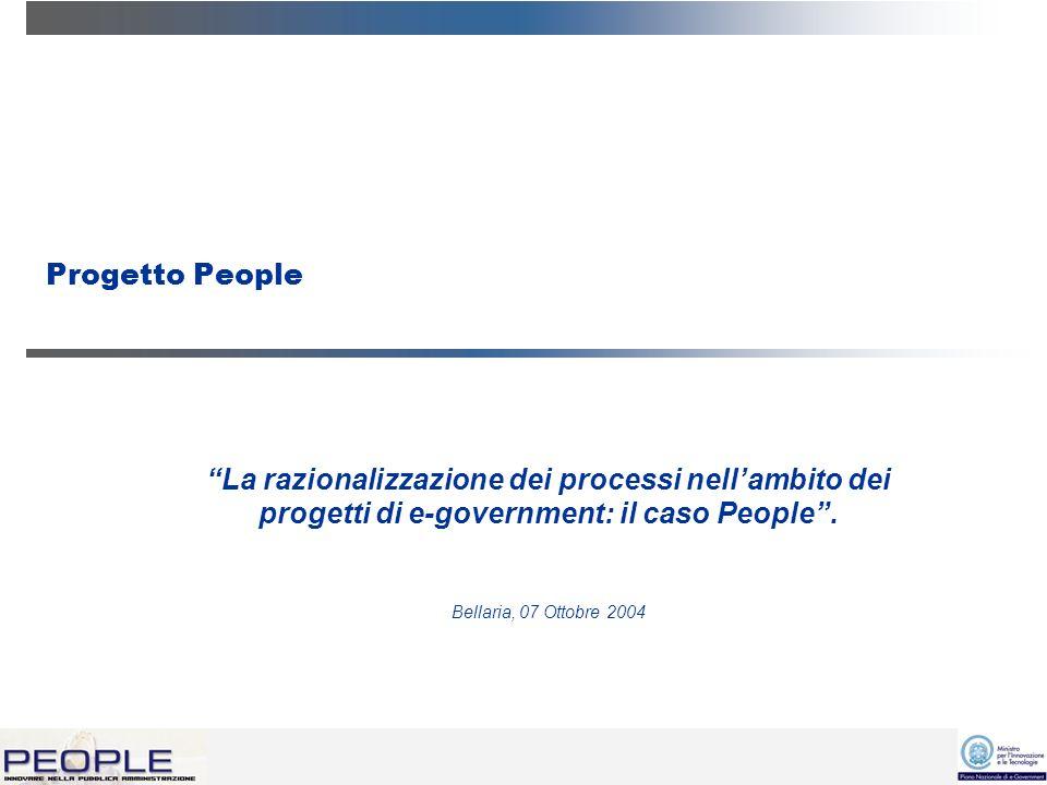 Progetto People La razionalizzazione dei processi nellambito dei progetti di e-government: il caso People.
