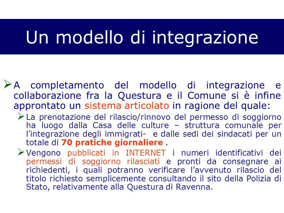 Un modello di integrazione A completamento del modello di integrazione e collaborazione fra la Questura e il Comune si è infine approntato un sistema