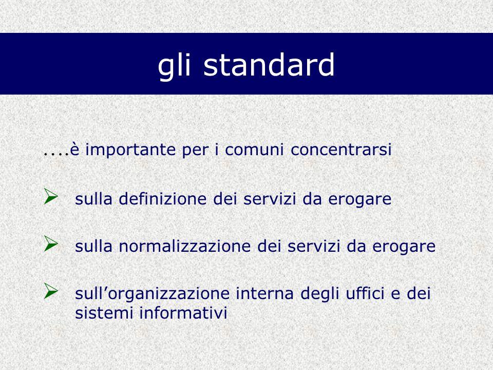 gli standard ….