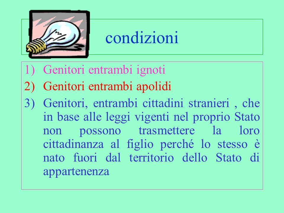 Art. 1 lettera B e C : Riconoscimento cittadinanza Jure Soli Trattasi di una forma residuale di riconoscimento della cittadinanza italiana in relazion