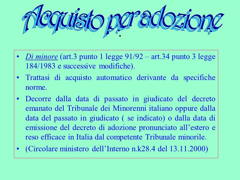 Competente a ricevere la dichiarazione è il Console italiano il quale provvede allaccertamento dei requisiti, trasmettendo sia la dichiarazione che lesito dellaccertamento allUfficiale di Stato Civile del Comune di residenza del genitore italiano.
