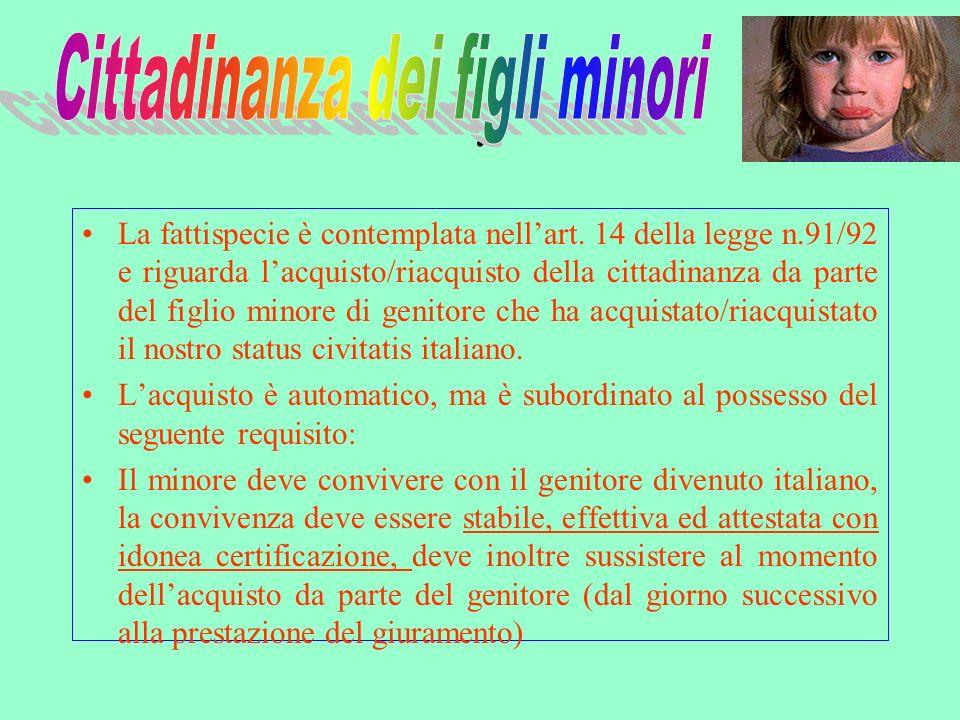 Competente a ricevere il giuramento è il console italiano il quale provvederà a trasmettere al Comune di residenza del coniuge, copia dellatto di giuramento unitamente al Decreto Ministeriale.