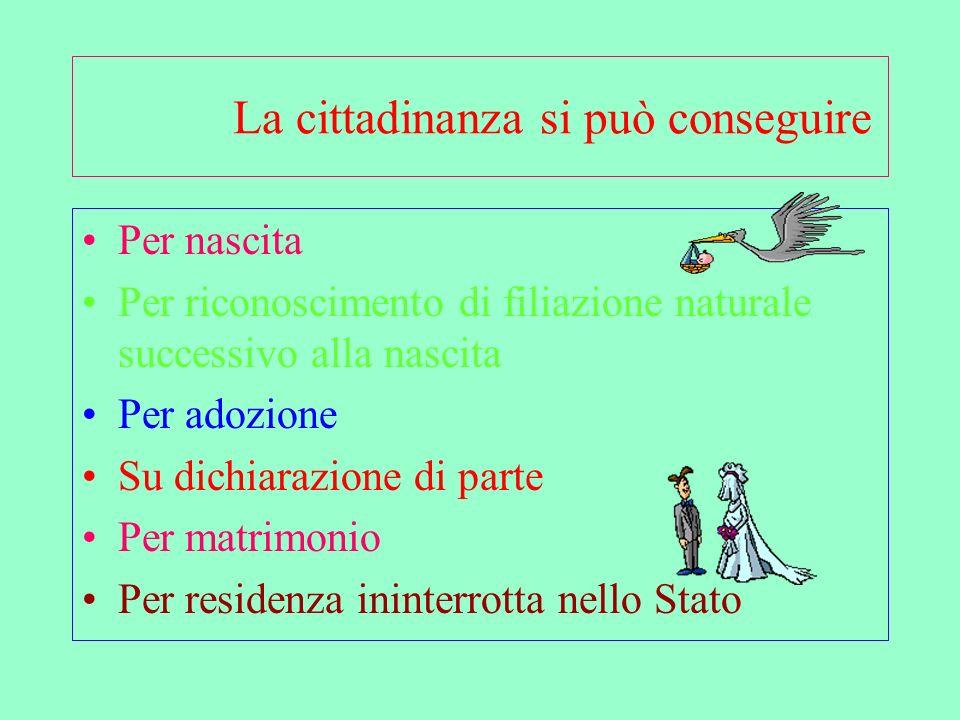 Le disposizioni contenute nella legge dispongono in merito agli acquisti – perdite- riacquisti, dello status civitatis italiano, risultando così una norma organica e completa.