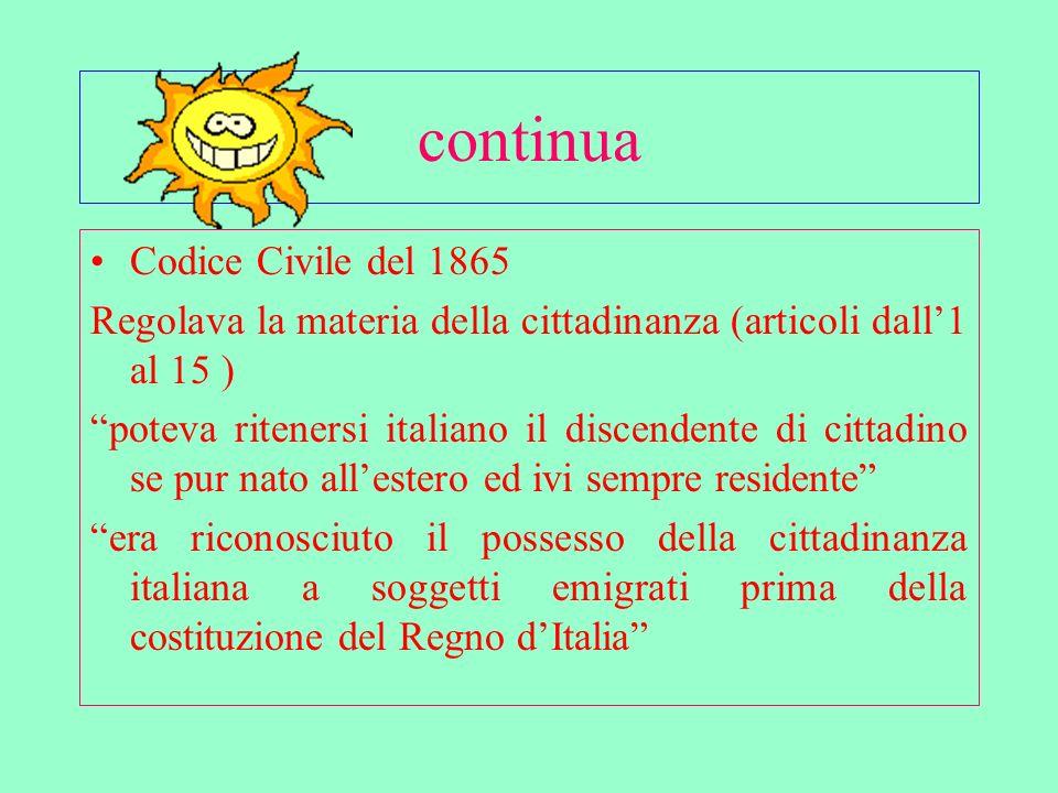 Di minore (art.3 punto 1 legge 91/92 – art.34 punto 3 legge 184/1983 e successive modifiche).