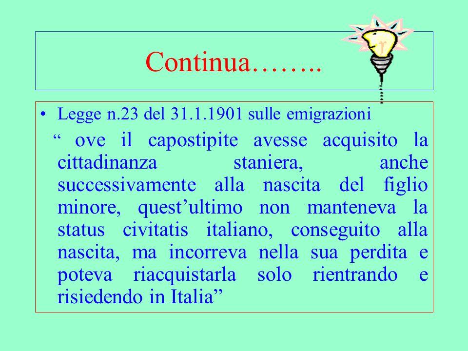 Se la convivenza interviene in un momento successivo o è cessata al figlio minore non può essere riconosciuta la cittadina italiana.