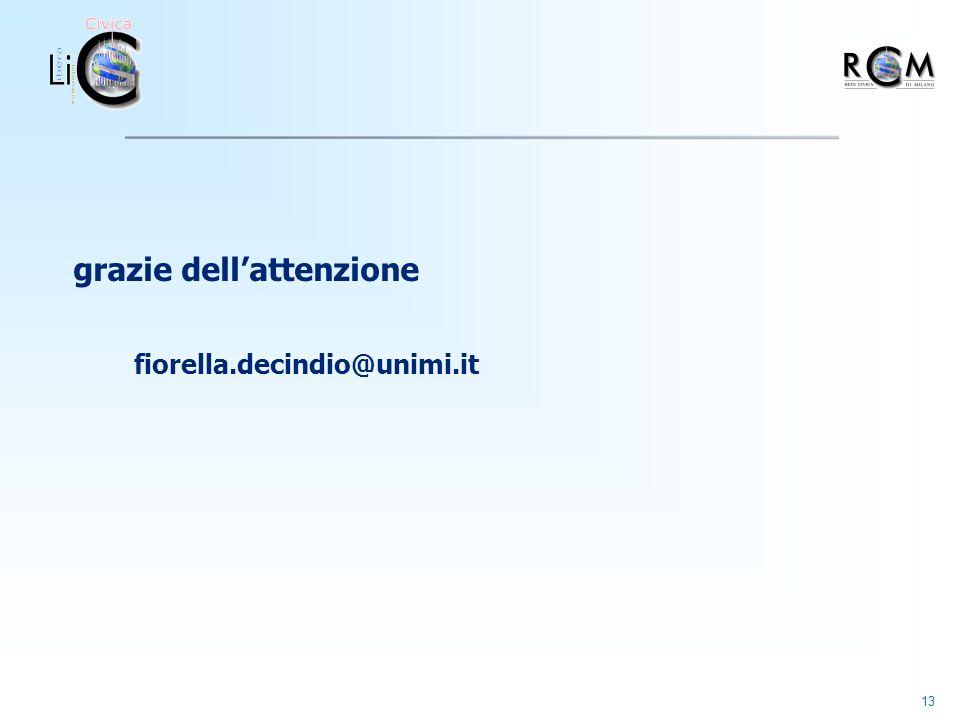 13 grazie dellattenzione fiorella.decindio@unimi.it