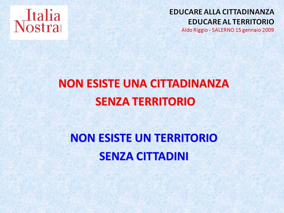EDUCARE AL TERRITORIO DI CITTADINANZA EDUCARE AL TERRITORIO BELLO, SOSTENIBILE, EQUO PARTECIPAZIONE RESPONSABILE EDUCARE ALLA CITTADINANZA NEL TERRITORIO