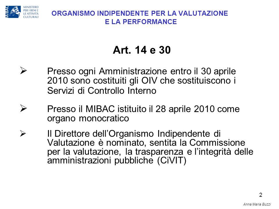 2 ORGANISMO INDIPENDENTE PER LA VALUTAZIONE E LA PERFORMANCE Presso ogni Amministrazione entro il 30 aprile 2010 sono costituiti gli OIV che sostituis