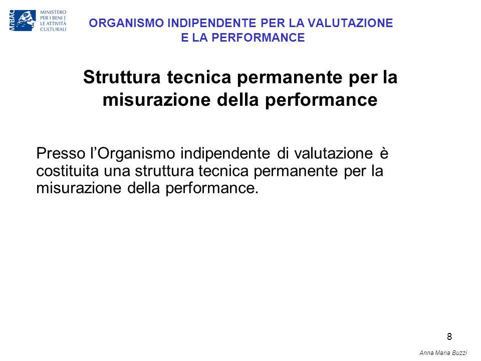 8 ORGANISMO INDIPENDENTE PER LA VALUTAZIONE E LA PERFORMANCE Presso lOrganismo indipendente di valutazione è costituita una struttura tecnica permanen