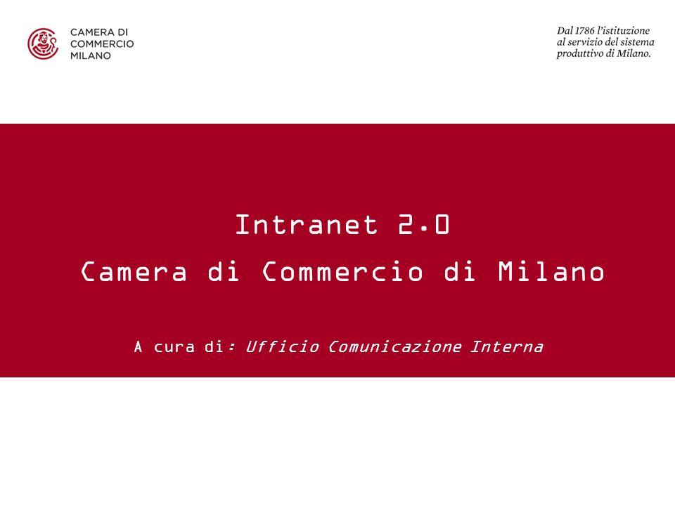 A cura di: Ufficio Comunicazione Interna Intranet 2.0 Camera di Commercio di Milano