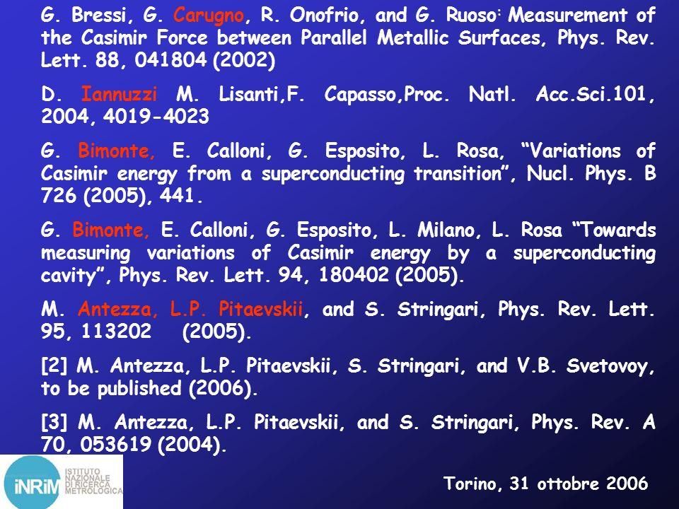 Il vuoto che non è vuoto anche di particelle Torino, 31 ottobre 2006