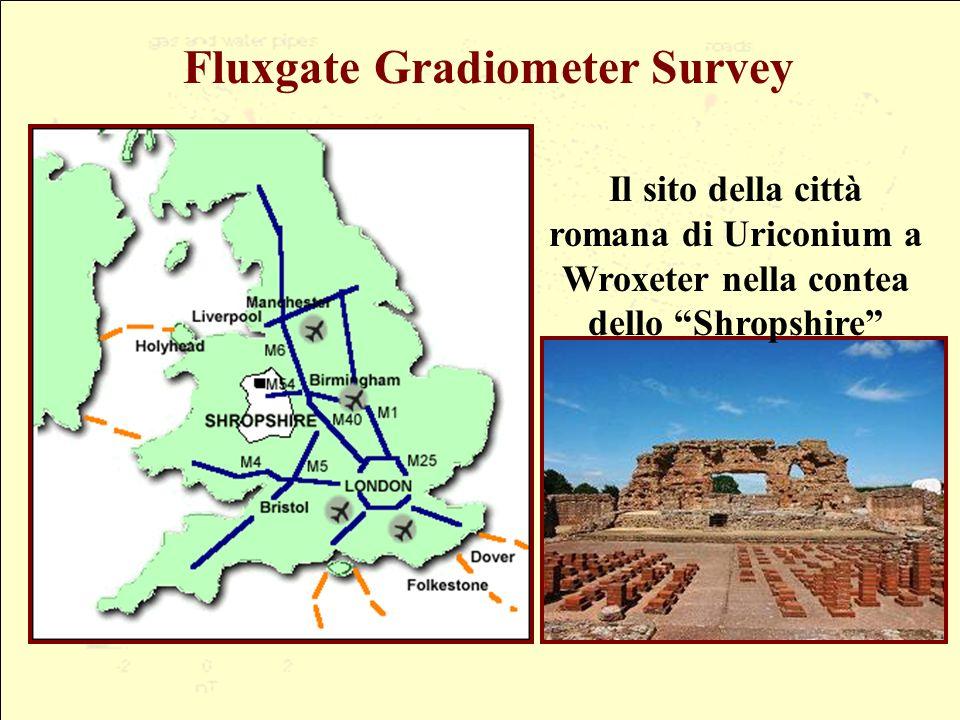 Fluxgate Gradiometer Survey Il sito della città romana di Uriconium a Wroxeter nella contea dello Shropshire