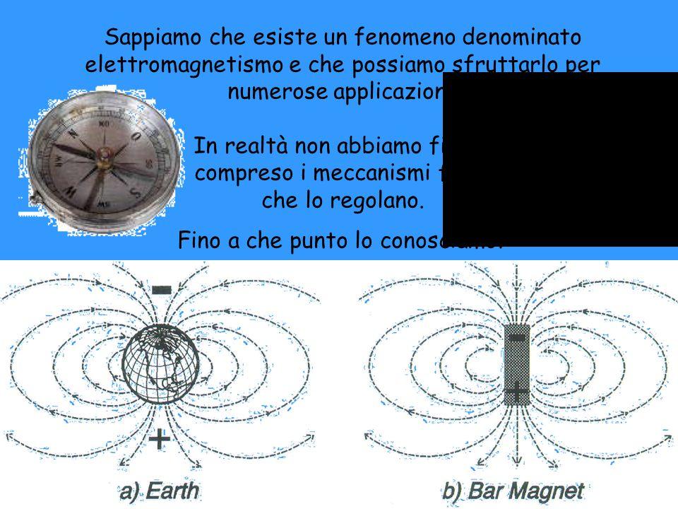 Sappiamo che esiste un fenomeno denominato elettromagnetismo e che possiamo sfruttarlo per numerose applicazioni. In realtà non abbiamo finora compres