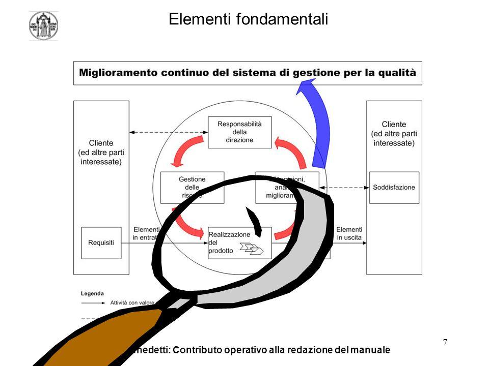 L. De Benedetti: Contributo operativo alla redazione del manuale 7 Elementi fondamentali