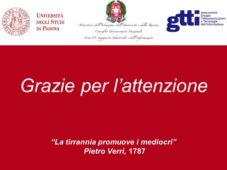 Grazie per lattenzione La tirrannia promuove i mediocri Pietro Verri, 1787