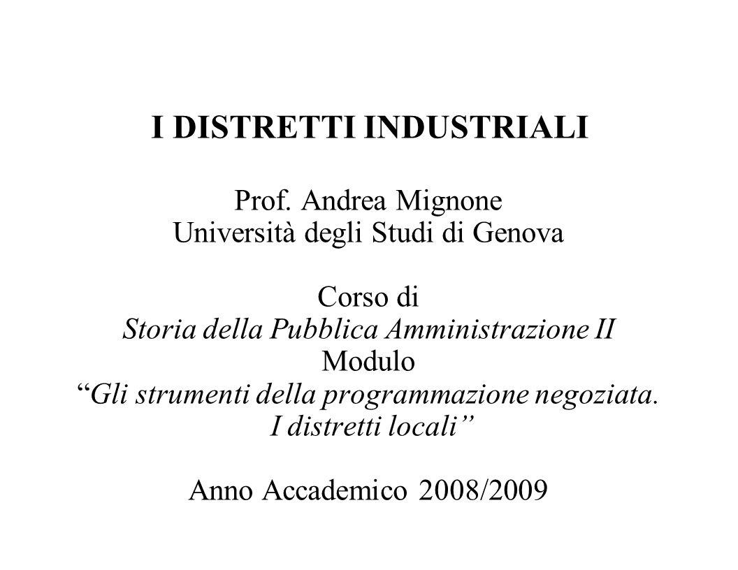 Prof. Andrea Mignone Università degli Studi di Genova Corso di Storia della Pubblica Amministrazione II Modulo Gli strumenti della programmazione nego