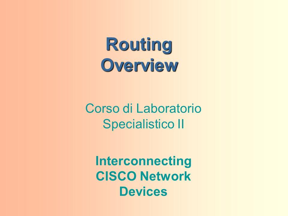 Routing Overview Corso di Laboratorio Specialistico II Interconnecting CISCO Network Devices