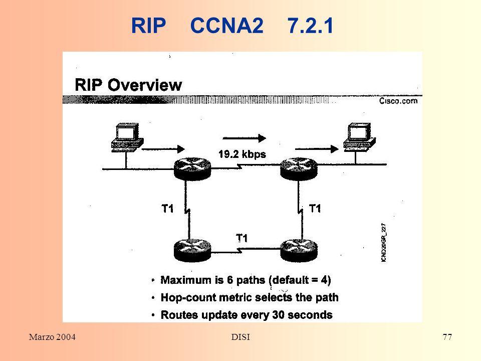 Marzo 2004DISI77 RIP CCNA2 7.2.1