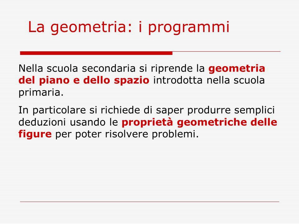 Approccio didattico alla geometria Utilizzare strumenti Quali strumenti.